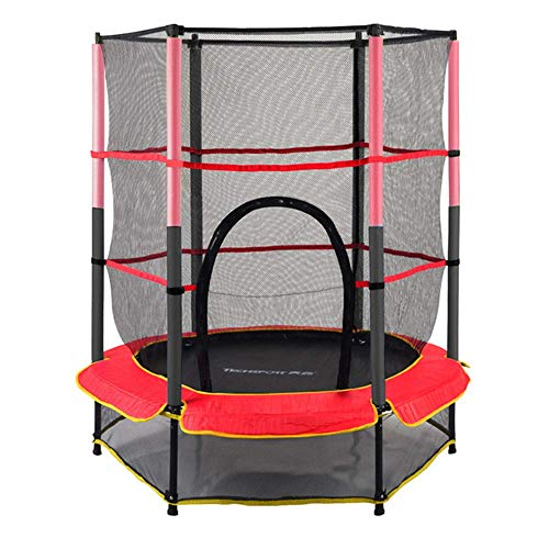 TBTBGXQ 6 Ft Trampoline, Kids Exercise Outdoor Trampolines Household Children Indoor Jump Bed with Protecting Wire Net Garden Trampoline, Red