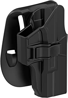 TEGE Glock 19 19X 23 32 45 Holster (Gen 1-5), Tactical Outside Waistband Belt Paddle Holsters with Adjustable Cant Fast Draw, Right-Handed, Black