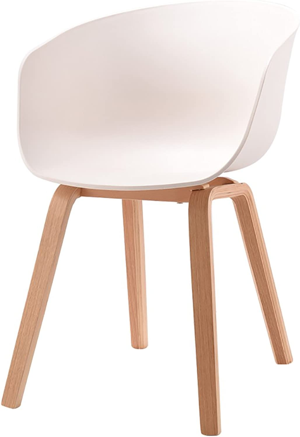 ALUS- Designer Chair Armchair Tripod Bent Wood Panton Designer PP Chair (color   White, Size   H75cm)