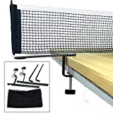 NO-LOGO Collapsible Table Tennis Net and Post Set, Ping Pong Training Mesh Net for Adults and Kids,Length 70...