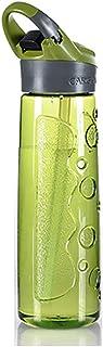 Caldera Taza De Plástico Taza De Paja Deportes Al Aire Libre Espacio Copa Montar con Actividad Hebilla Botella De Agua Portátil