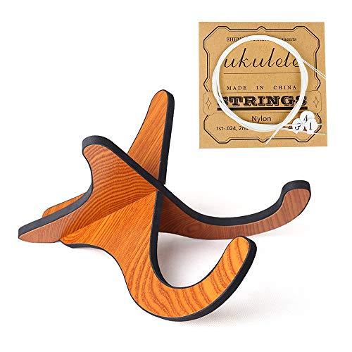 Soporte para ukelele, versión actualizada de madera, desmontable, soporte portátil para instrumentos musicales con cuerdas para ukelele.