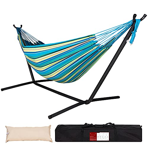 Lazy Daze Double Cotton Hammock with Space Saving...