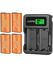 JYJZPB 4 Stuks 2800mAh Accu voor Xbox One X S Serie Oplaadbare Batterij Xbox-Serie X & S-Controller Elite, Kit met Slimme Snellader