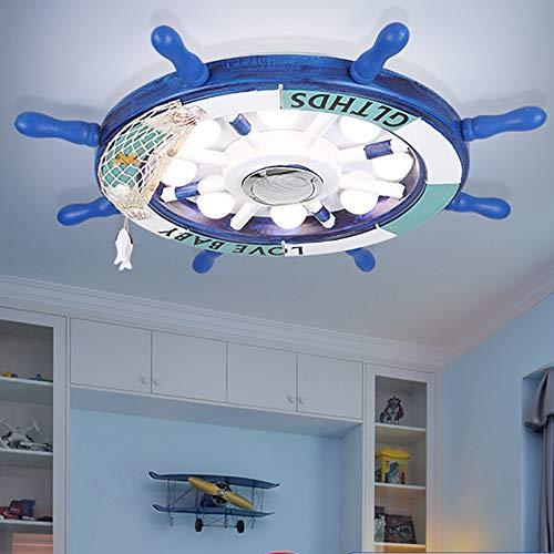 Madera LED Lámparas de techo Niños niña dormitorio Lámpara de techo Regulable Lampara infantil Con control remoto noche Luces y Bluetooth altavoz Sin destellos guardería Encendiendo,Ø65cm~40w