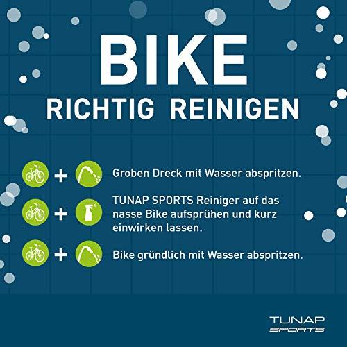 TUNAP SPORTS E-Bike Antriebsreiniger, 300 ml | Reinigung von Antrieb, Kette und Ritzel speziell für das Elektrofahrrad| aufsteckbare Pinselbürste - 5