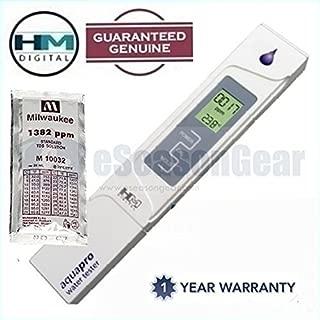HM Digital AP-1 + 1382 ppm Solution, AquaPro TDS/ºC/ºF Meter/Tester/Thermometer