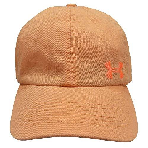 UNDER ARMOUR アンダーアーマー レディース ジュニア 女性用帽子 ランニング キャップ 帽子 55〜58cm - デザインB/アプリコット