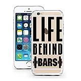licaso Handyhülle für iPhone 5 & 5S SE aus TPU mit Life Behind Bars Hanteln Muskeln Gym Print...