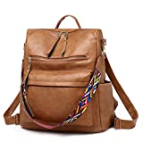 Generic Women Fashion Backpack Purse Waterproof Bookbag Rucksack Crossbody Shoulder Bag Brown