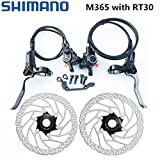 Frenos M365 de Freno de Disco hidráulico de Freno for Bicicleta MTB de Bicicletas de montaña de Freno BR-BL-M365 Brake W/n 160mm G3 HS1 RT30 Rotor (Color : M365 with RT30)