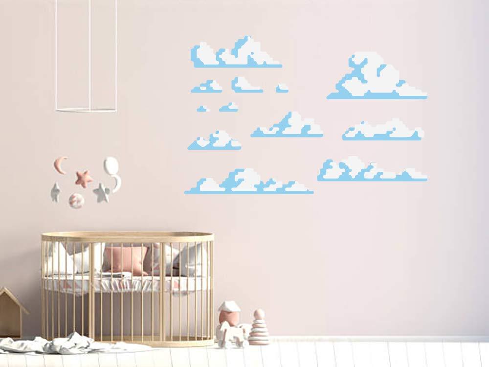 Pixel Clouds Nursery Kids depot Room Wall Vinyl Deca Mural Car Sticker Super popular specialty store
