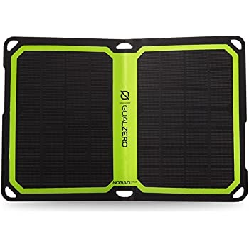 GPS from the sun Goal Zero Nomad 7 PLUS Smart Solar Panel Charge phone GoPro
