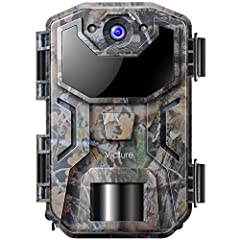 Victure Wild Camera 20MP z detektorem ruchu Night Vision 1080P Prey Kamery z podczerwonym blaskiem IP66 Wodoodporny do polowania i obserwacji dzikiej przyrody