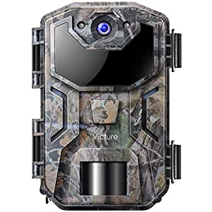 Victure Wildlife Trap Camera 20MP Night Vision Motion Activated with Upgraded Waterproof Design 1080P Trail Camera No Glow for Wildlife Watching