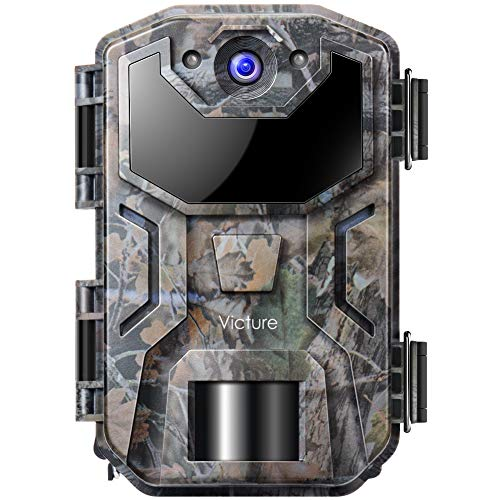 Victure Wildlife Trap Camera 20MP Night Vision Motion Activated with Upgraded Waterproof Design 1080P Trail Camera Low Glow for Wildlife Watching