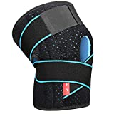 Knee Brace Support for Men and Women Compression Brace Sleeve for Arthritis Pain Meniscus Tear Patellar Tendon Support, ACL, MCL,Sports,Adjustable Size with 2 Side Stabilizers