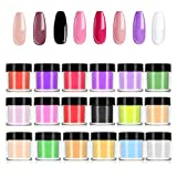 Dipping Nail Powder Acrylic Nail Powder Lfei 18 Colors Acrylic Powder Set for Nail Art 3D DIY Tips Decoration