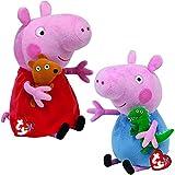 TY_UK Ty Beanie Babies - Peppa & George Buddy Combo 25cm (Both Supplied)
