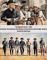 b直輸入、大きな写真「荒野の七人」スティーブ・マックイーン、ユル・ブリンナー The Magnificent Seven