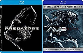 AVP: Aliens vs. Predator: Requiem Extreme Unrated & Predators Sci-Fi Aliens Blu Ray DVD Movie Set