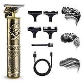 Haarschneidemaschine Herren, Elektrischer T-Trimmer Profi Akku-Haarschneider, Bartschneider USB...