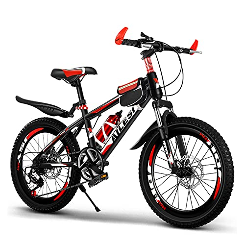 GZMUK 20/22/24 Inch Mountain Bike for Men Women Carbon Steel Bicycle 7-Speed Bicycle Adult Mountain Bike Student Outdoors Unisex Bike MTB Bike,Red,24in