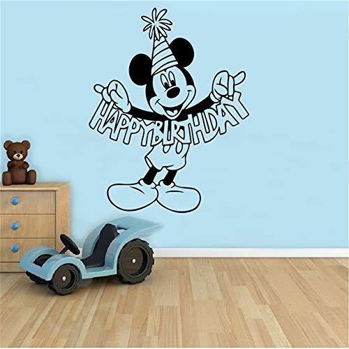 Wandaufkleber Wandtattoo Geburtstagsgrüße Mickey Mouse-Karikatur-Aufkleber-Wand Kinderzimmer-Raum-Ideen des Innenraums
