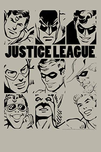 DC Comics Justice League Group Shot Panel Poster: Notebook Planner - 6x9 inch Daily Planner Journal, To Do List Notebook, Daily Organizer, 114 Pages