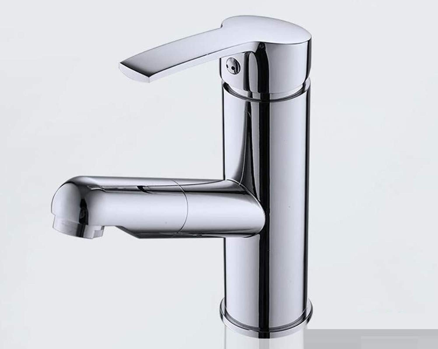 Wash Basin Lavatory Brass hot and Cold Telescopic Pull Faucet redating Kitchen Faucet