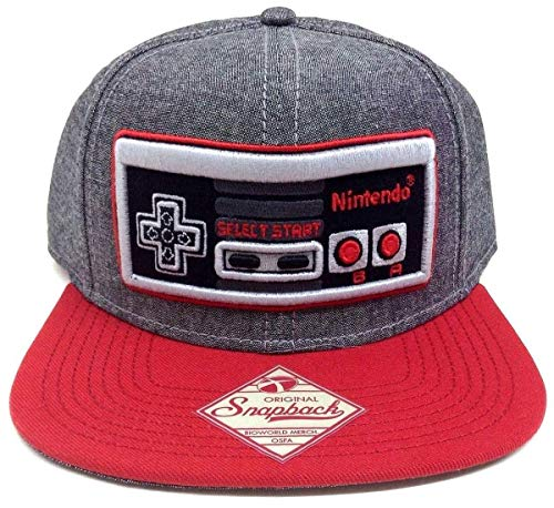 Nintendo Controller Zwart Heren Snap Back Hoed One Size Fits Most Grijs