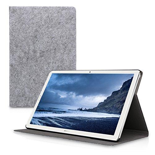 kwmobile Hülle kompatibel mit Huawei MediaPad M5 10 / M5 10 (Pro) - Slim Tablet Cover Hülle Schutzhülle mit Ständer Hellgrau