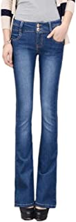 Women High Waisted Jeans Bell Bottom Stretchy Skinny Jeans