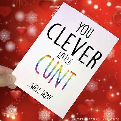 Lustige Karten, Abschluss-Karte, You Clever Little, Well Done, Pass Exam Card, Pass Driving Test Karte, Glückwunschkarte PC36