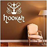 Vinyl Wall Stickers Hookah Decal Relax Arabic Home Interior Living Room Hookah Wall Tattoo Sticker Bedroom Coffee Wall Decor Decals Inspirational Quotes for Living Room/Bedroom 57x57cm