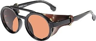 Inlefen Women's Retro Small Round Plastic Frame Candy Color Design Sunglasses