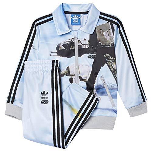 adidas Originals Star Wars Kinder Firebird Set Anzug ATAT Jacke + Hose AB1847, Größe:104, Farbe:Hellblau