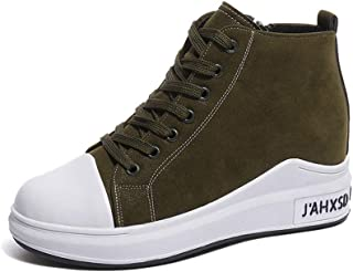 lcky High-top Canvas Shoes Sneakers Casual Shoes Ladies Walking Shoes