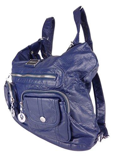 Jody 89297, 2in1 Damen Rucksackhandtasche, Handtasche und Rucksack, 37x28x15cm (blau)
