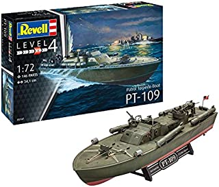 Revell- Maqueta de Patrol Torpedo Boat PT-109, Kit Modello, Escala 1:72 (5147) (05147), 34,1 cm de Largo (