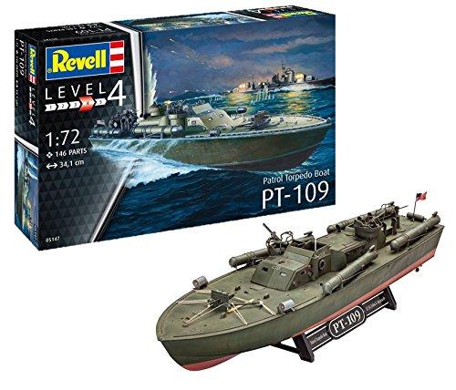 Revell Maqueta de Patrol Torpedo Boat PT-109, Kit Modello, Escala 1:72 (5147) (05147), 34,1 cm de Largo