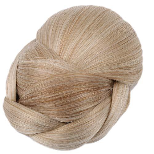 SUNSKYOO Haar Perücke Gericht Hochtemperaturdraht Easy Clean Haarteil Leichte Stil Brötchen Zubehör Braut Blüte Stück Perücke, Farbe 1003