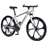erthome VTT,Vélo de montagne, vélos tout-terrain de 26 pouces, vélo de cyclisme en plein air à 21 vitesses, vélo de route en plusieurs couleurs, cyclisme en plein air (Blue)