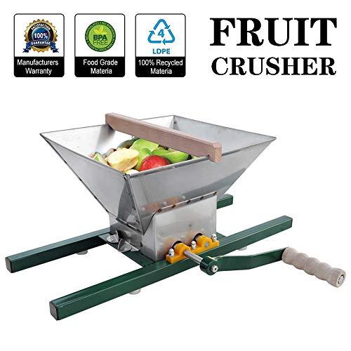 ECO-WORTHY Trituradora manual de frutas, para zumo de manzana de frutas, amoladora de pulper portátil