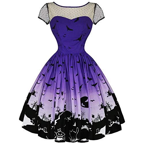 Hell Bunny Damen Kleid violett violett