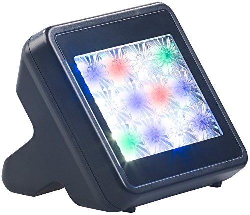 VisorTech Fernsehimitator: TV-Simulator zur Einbrecher-Abschreckung mit 12 LEDs inkl. Netzteil (Fake TV)