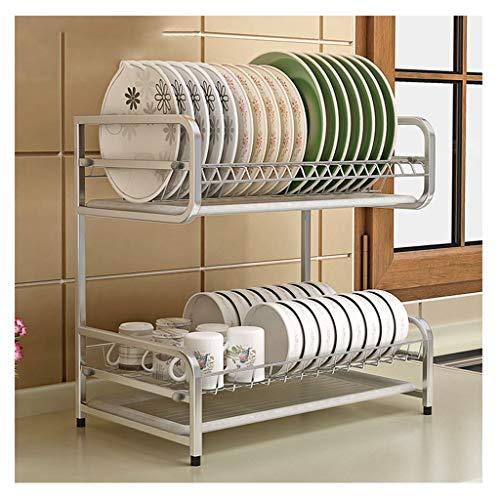 MGEI Rekplaat, 304 roestvrij staal dubbele kom afvoer keuken wastafel accessoires servies plank beugel met afvoer