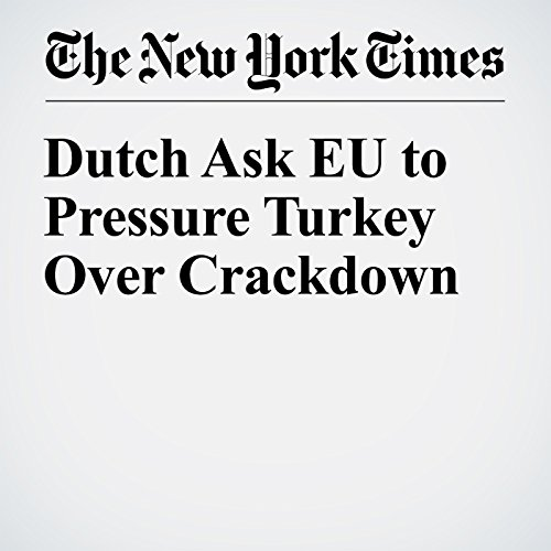 Dutch Ask EU to Pressure Turkey Over Crackdown audiobook cover art
