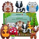 DeFieltro Animali della Foresta - Feltro Fai da Te - Kit Decupage Bambini - Lavoretti Creativi per...