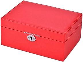 GPWDSN Sieraden Box -Medium Sieraden Doos Vier-Stuk Lock Mooie Mode Sieraden Ketting Doos Hanger Ring Armband Sieraden Doo...